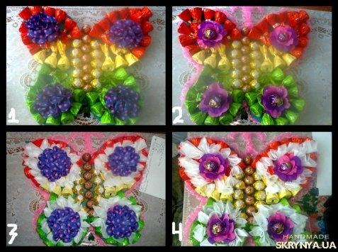 Бабочка из конфет своими руками фото 12