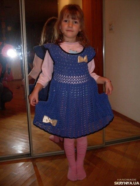 Вязаное Платье Для Девочки Доставка