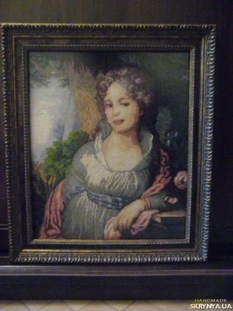 Лопухиной портрет вышивка крестом 75