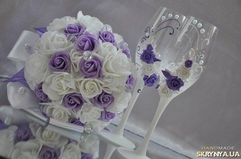 Как сделать букет невесты из атласных лент и фоаминаром своими руками