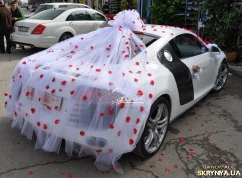 Украшения на авто для свадьбы своими руками