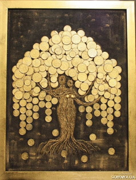 Дерево из монет картина 2