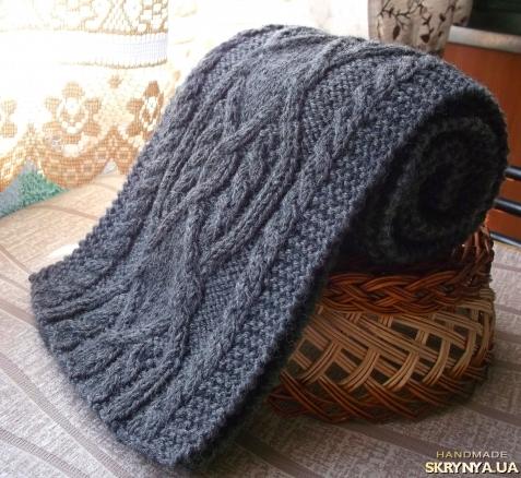 Красивый шарф мужской связать