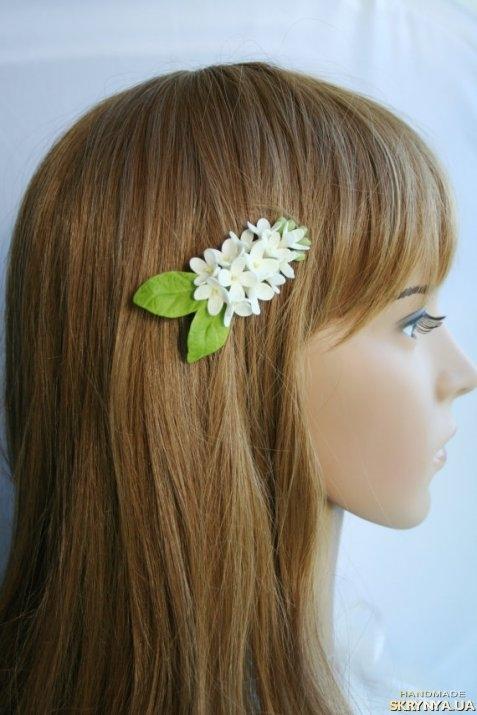 Заколки для волос из холодного фарфора фото