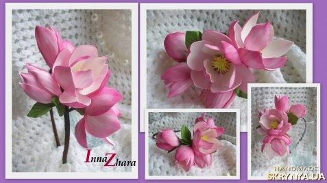Цветы из фома с пошаговым выкройки
