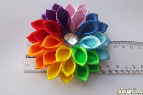 Квіти из лент своими руками 62