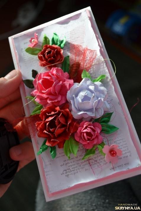 Объемная открытка с цветочками 19