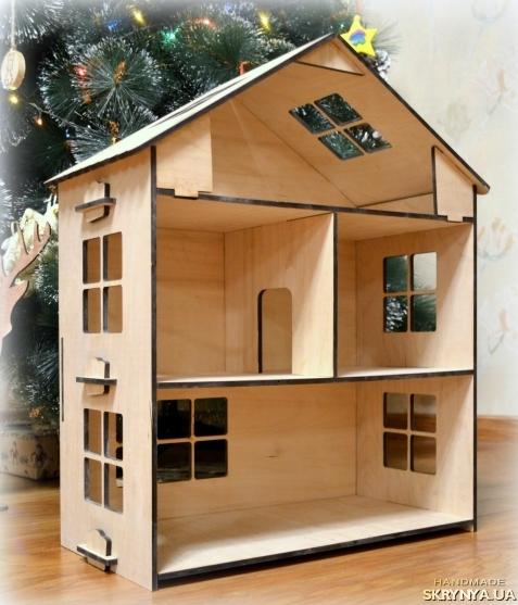 Фото домик для куклы своими руками