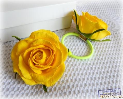 Цветы из фоамирана на резинку мастер класс