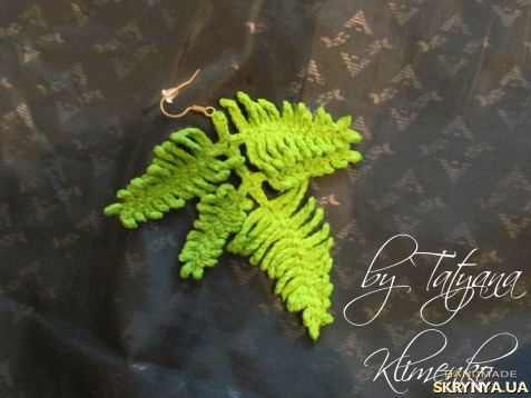 Вязание крючком листья папоротника 44