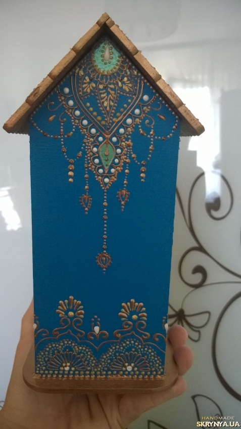 Точечная роспись домики