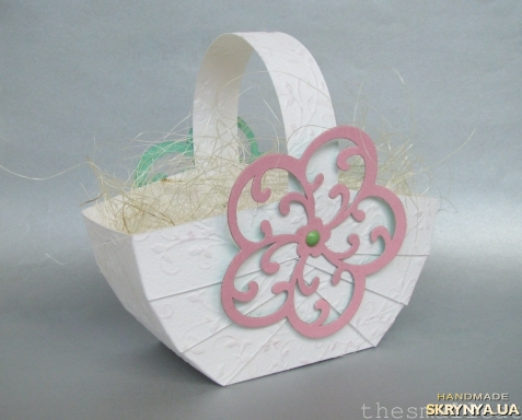 тут зображено Подарунковий кошичок на Великдень