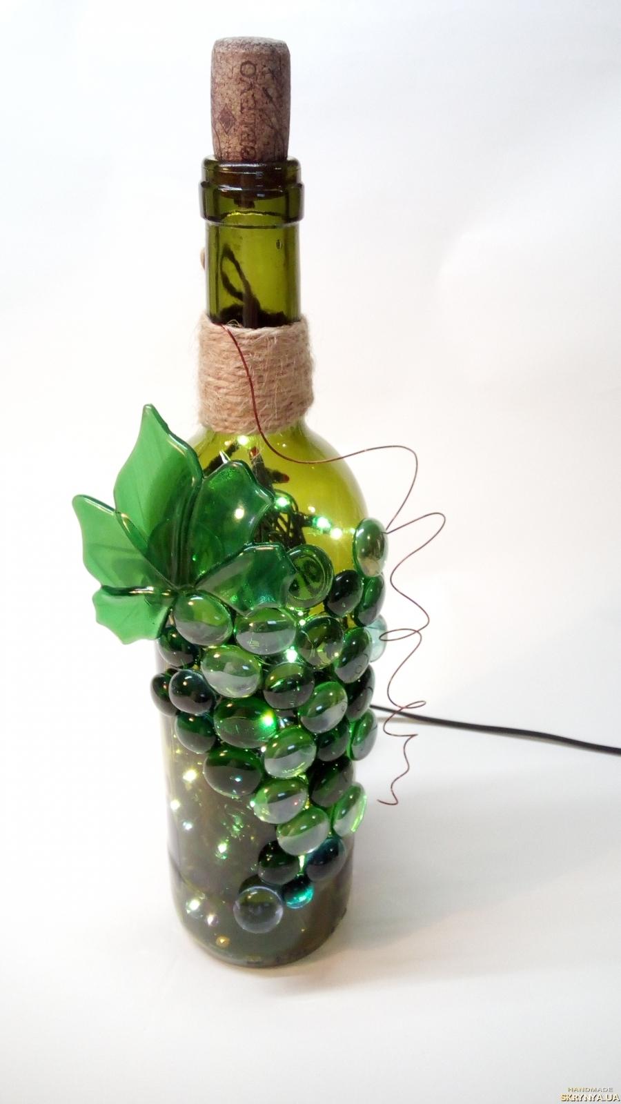 Украшение бутылки вина фото