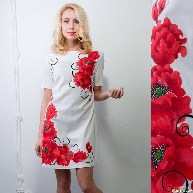 Маки на платье своими руками 45
