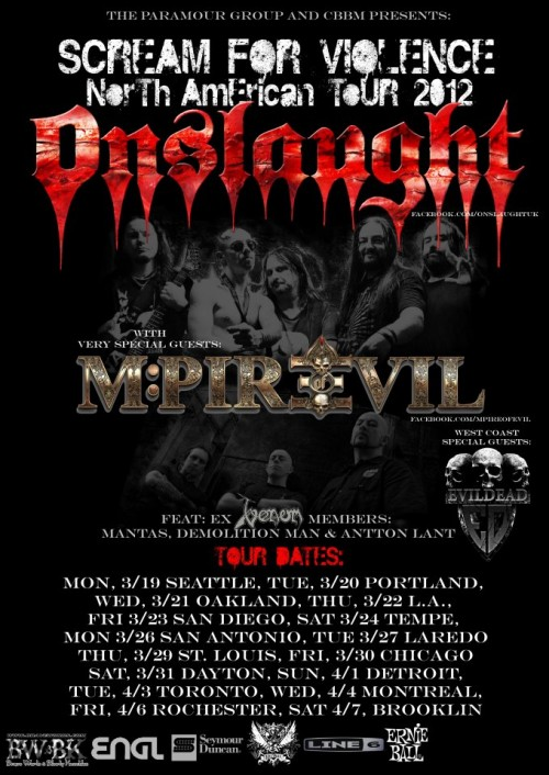 Onslaught Confirms Upcoming North American Tour