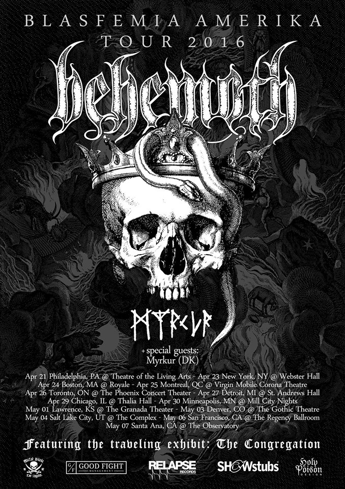 "Behemoth Will Perform ""The Satanist"" In It's Entirety On Spring North American Tour!"