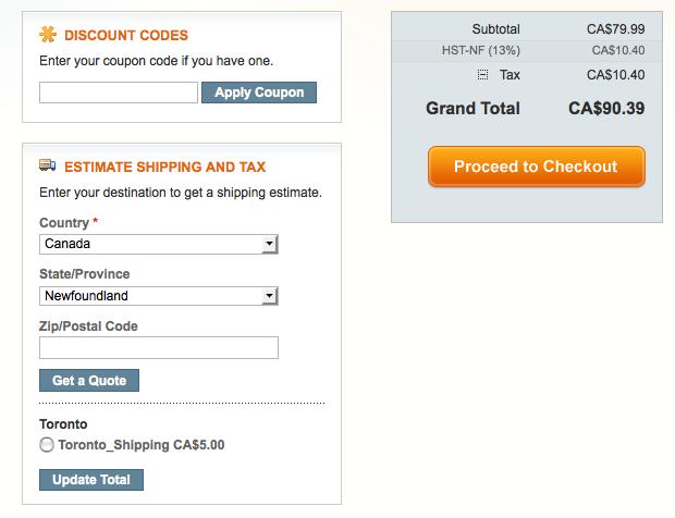 Testing Magento Tax Setup