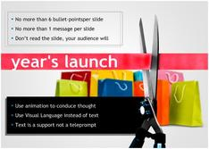 Present about Year's Launch for Retail theme
