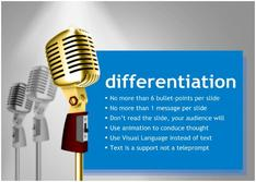 Present about Differentiation for  Entertainment  theme