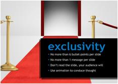 Present about Exclusivity for  Entertainment  theme