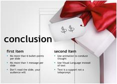 Presentation on the Conclusion in retail theme