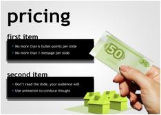 Present about Pricing for  Entertainment  theme