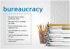 Present about Bureaucracy for Education theme