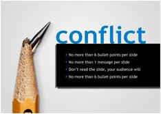 Present about Conflict for Education theme