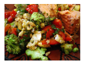 Medifast Salmon And Vegetables recipe