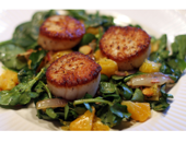 Medifast Scalllops With Spinach recipe