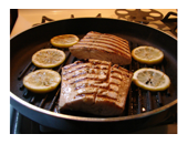 Dukan Diet Grilled Bourbon & Lemon Salmon recipe
