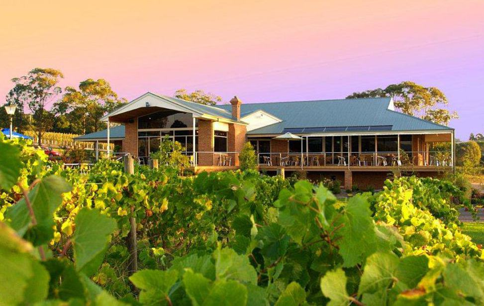 Wild cattle creek restaurant as seen from vineyard