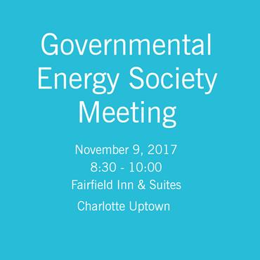 Duke Energy Governmental Energy Society Meeting