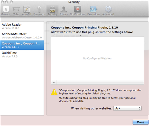 Trouble installing coupon printer mac