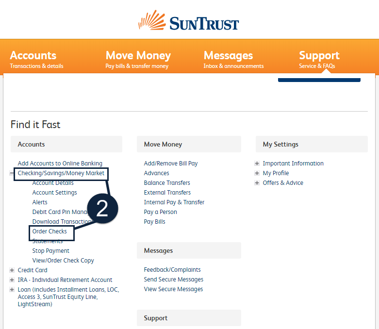suntrust online banking help