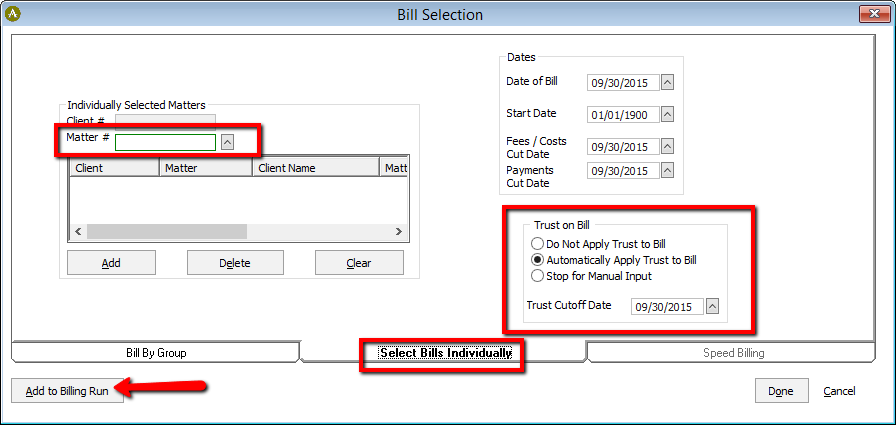 how to run a bill with a trust account abacuslaw knowledge base