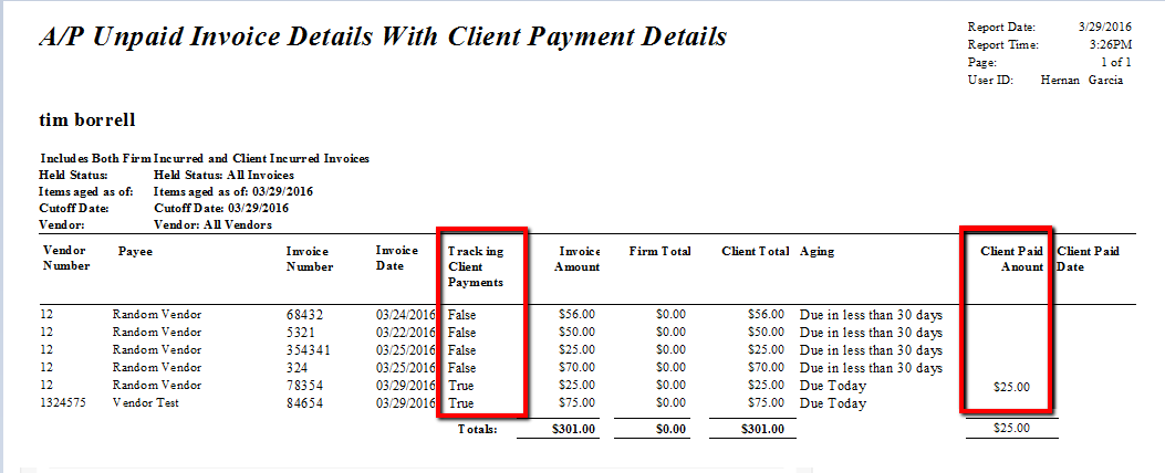 Track Client Payments Received For Vendor Invoices AbacusLaw - Payment details on invoice