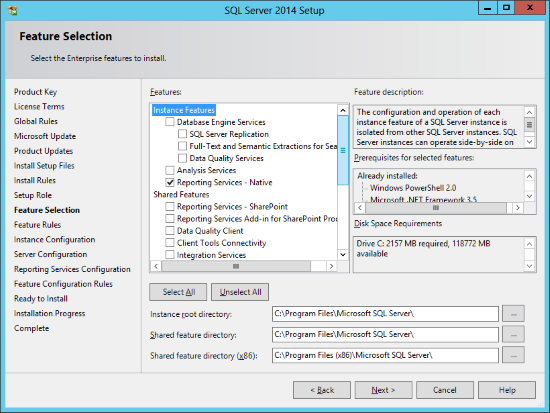 Installing Reporting Services for an Existing Instance - Amicus