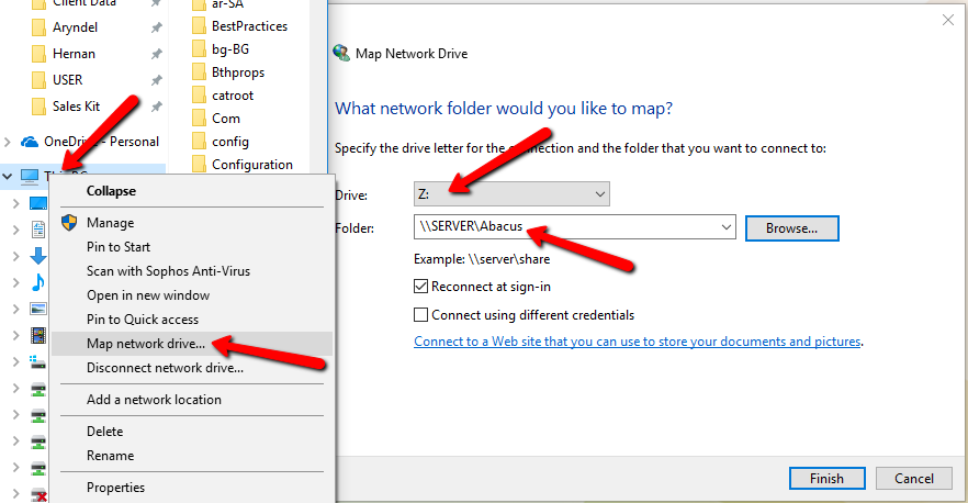 How to Map a Network Drive in Windows 7 or Above - AbacusLaw ... Map A Network Drive Win on map network drive command, map network drive on winxp, map network drive mac, map in windows xp networking,