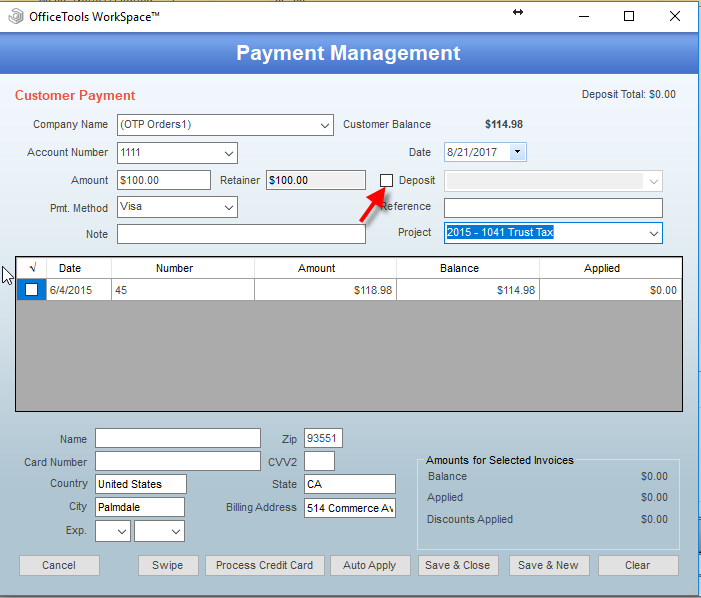How to Create Deposit Slips - OfficeTools Knowledge Base