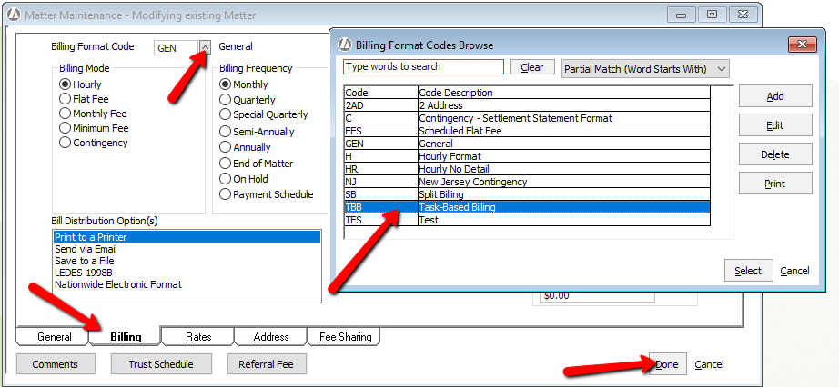 LEDES B Setup AbacusLaw Knowledge Base - Ledes invoice generator