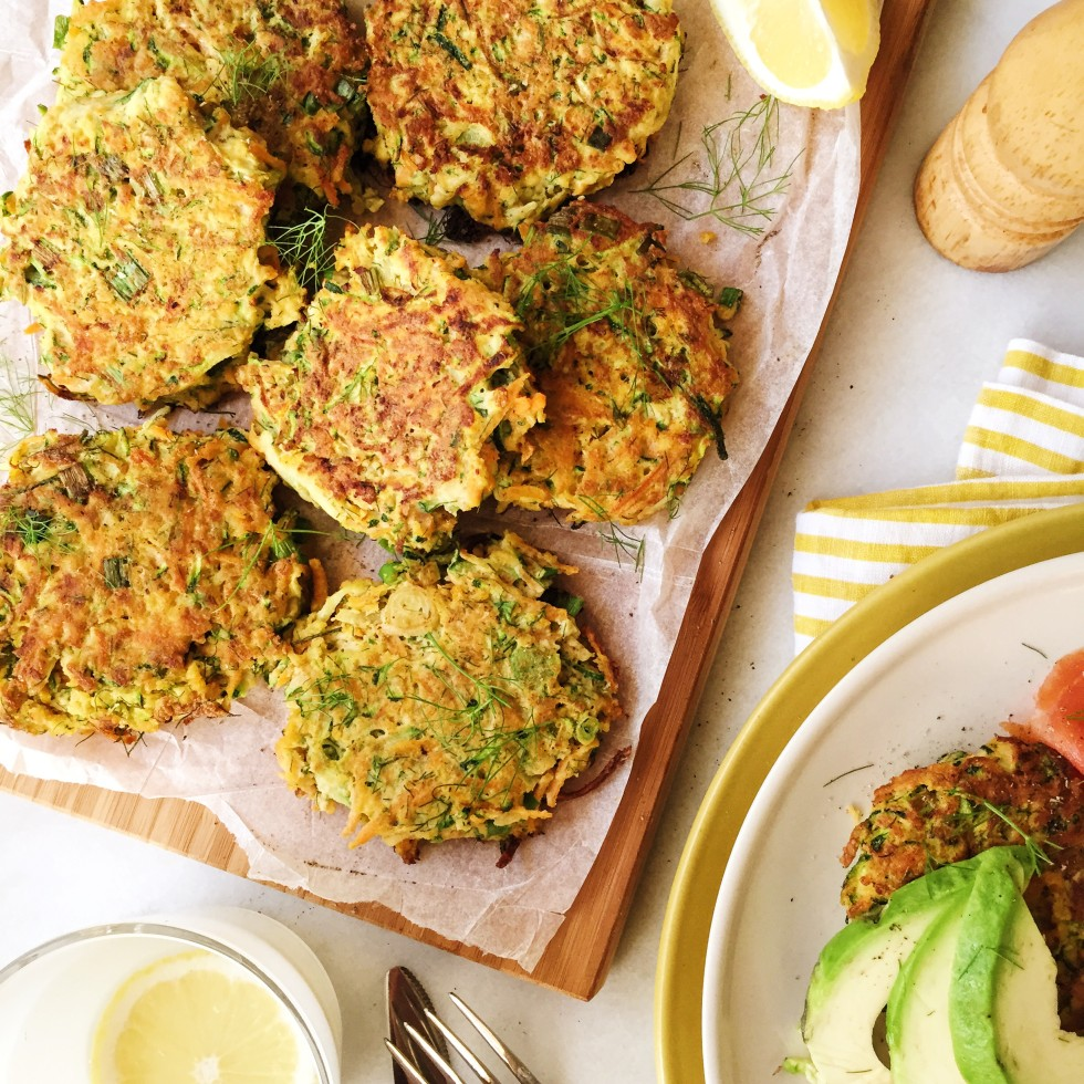Paleo Zucchini and Carrot Fritters