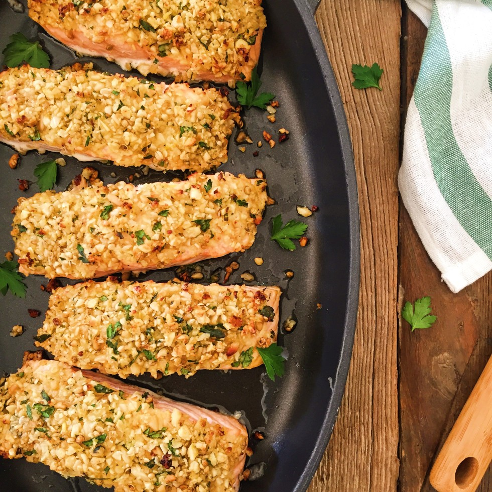 Paleo Nut Crusted Salmon