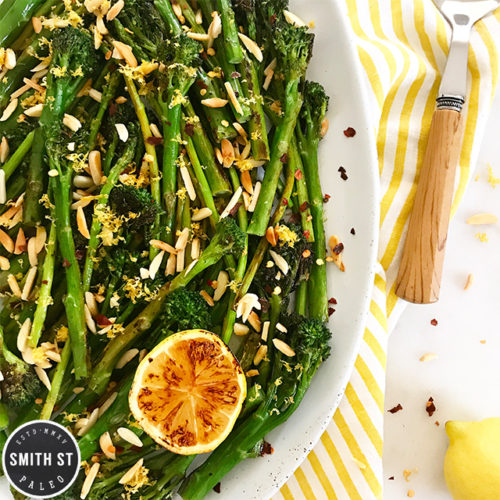 Pan-Fried Lemon Asparagus and Broccolini