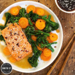 Teriyaki Salmon with Steamed Carrots & Broccoli