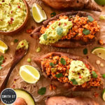 Turkey Taco Sweet Potato with Guacamole