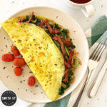 Bacon Spinach & Onion Omelette