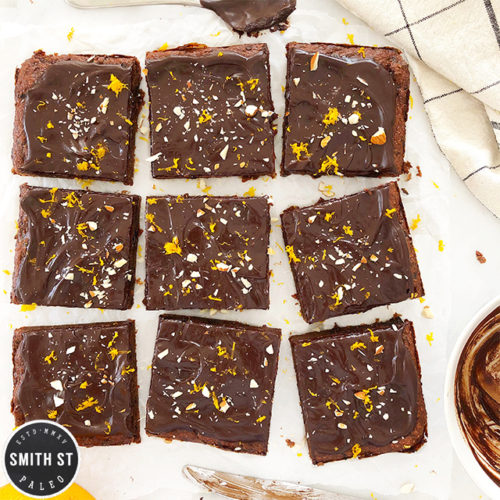 Prune Almond and Orange Brownies