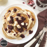 Banana Pancakes with Berry Compote and Cashew Cream