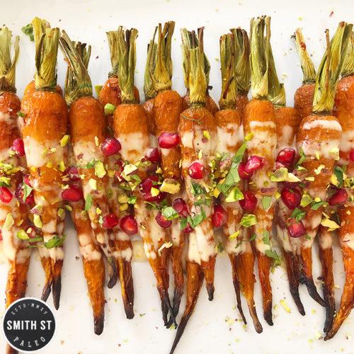 Harissa and Honey Roast Carrots with Orange Tahina